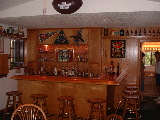 Oak bar and backbar