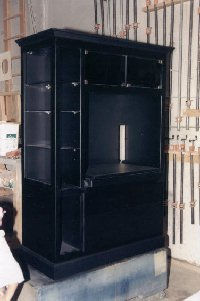 Black lacquer entertainment center
