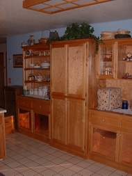 Birch and alder hutch and pantry units