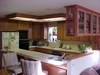 Red oak kitchen with solid oak doors